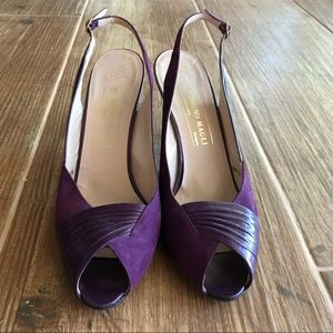Bruno Magli, 10, Purple Leather & Suede Heels